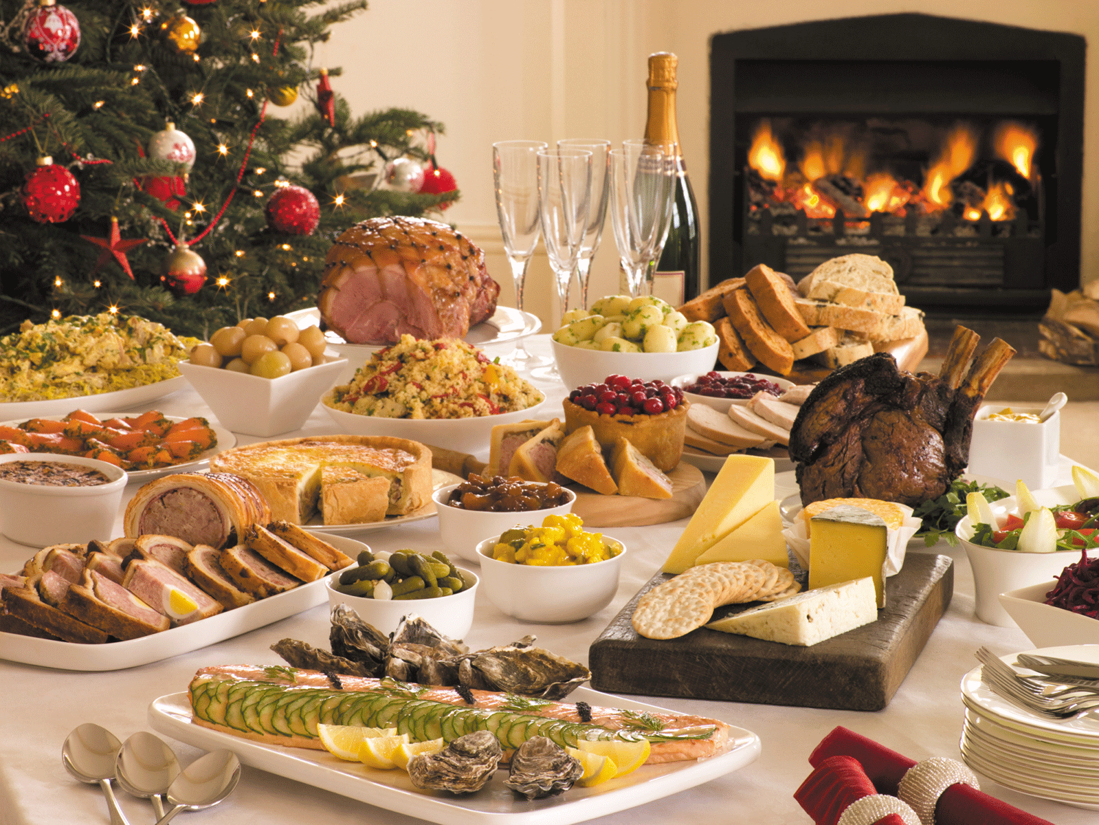 Image result for holiday dinner buffet