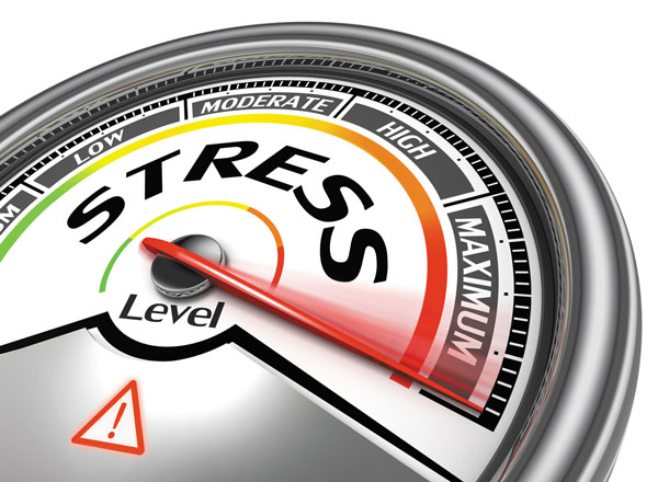 stressing about heart health- stress scale