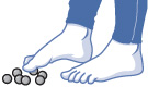 illustration of toe pick-up exercise