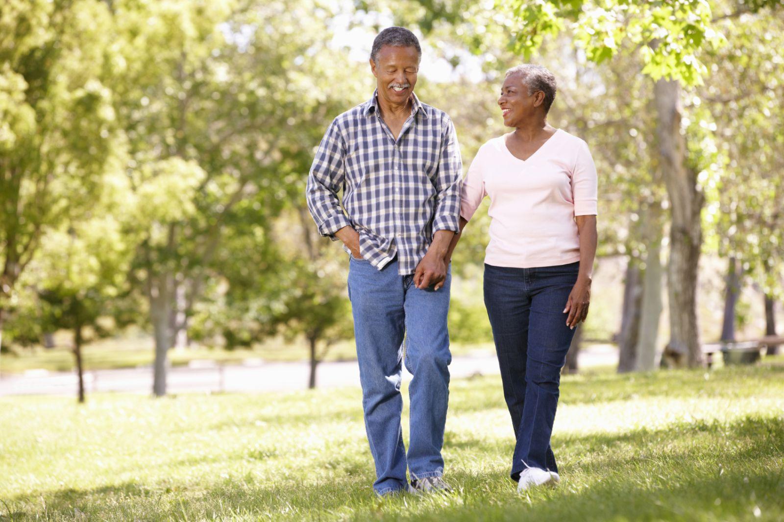 older couple walking cardio exercise park monkeybusinessimages iStock 000022452808 Medium