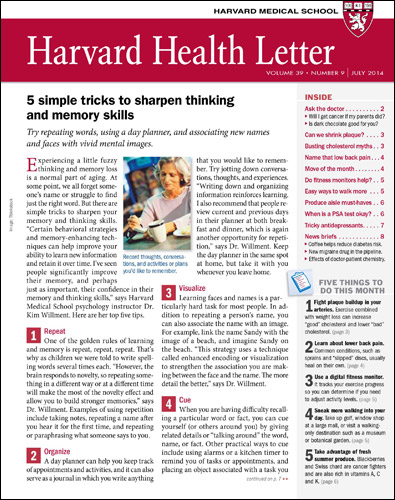 Harvard Health Letter Cover
