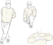 illustration of muscle contractions that may help prevent fainting