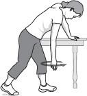 illustration of pendulum stretch exercise