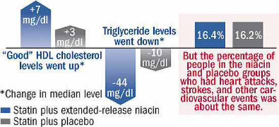 Niacin + a statin does not add up to benefit featured image