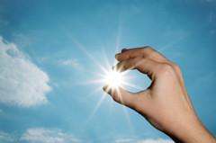 Hand-and-sun