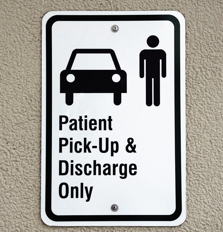 Patient-discharge-zone