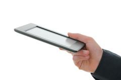 Man-holding-an-e-reader