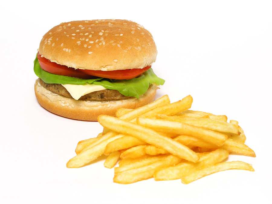 bigstock-Hamburger-And-French-Fries-263887