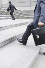 Businessman-running-stairs