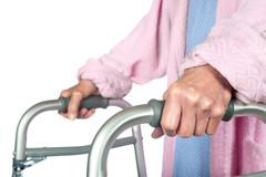 Elderly-woman-using-a-walker
