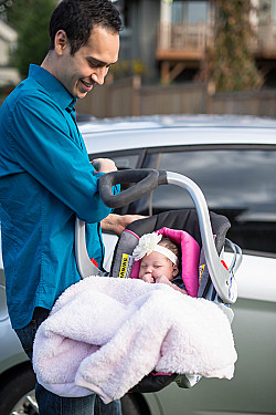 Infant car seats are for cars only (how not to use an infant car seat) featured image