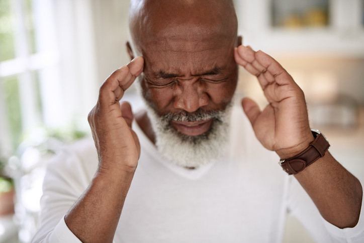 African-american-man-with-headache